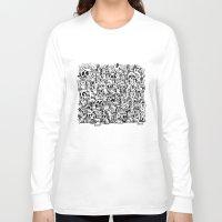 bunnies Long Sleeve T-shirts featuring Bunnies & Skulls by Stephan Brusche