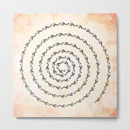Watercolor sol key swirl Metal Print