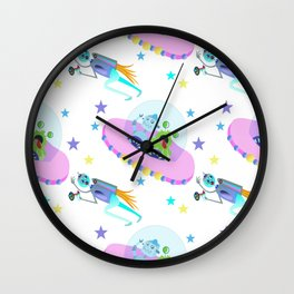 Outerspace Traffic Jam Wall Clock
