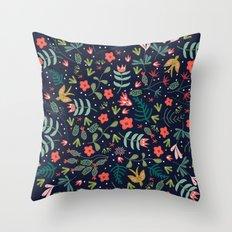 Flying Around in the Garden Throw Pillow
