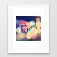 friday night lights Framed Art Prints featuring Almost Friday by Tegan Farrugia