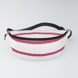 Geometric Minimalist Pink White Stripes Pattern Fanny Pack