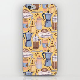 Coffee Love on Yellow iPhone Skin