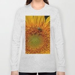 Bee and Dew on Sunflower Long Sleeve T-shirt