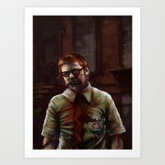 Zombie Teacher Art Print