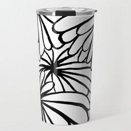 Inked flowers Travel Mug