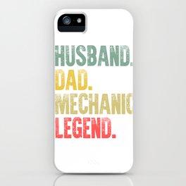 Funny Men Vintage T Shirt Husband Dad Mechanic Legend Retro iPhone Case