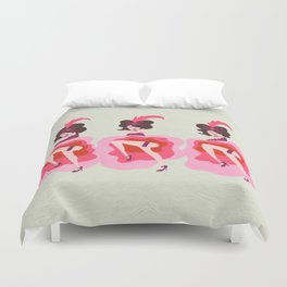 French Cancan Dancers Duvet Cover