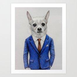 gentleman dog Art Print