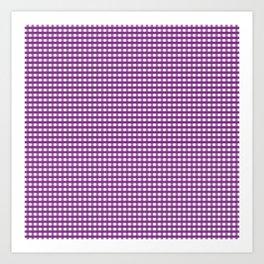Purple Gingham Checkered Pattern Art Print