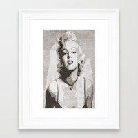 monroe Framed Art Prints featuring Monroe by Jason Michael