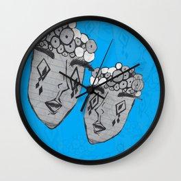 Greedy Eyes Wall Clock
