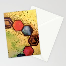 Sacred Honeycomb (2015) Original Painting Stationery Cards