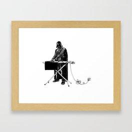 Mundanity and Darth Vader Framed Art Print
