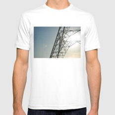 sky 2 Mens Fitted Tee White MEDIUM