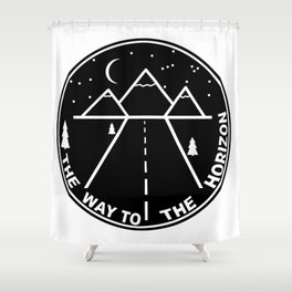 The way to the horizont Shower Curtain