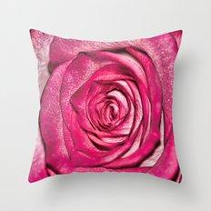 Textures of a Rose Throw Pillow