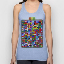 countries coming together Unisex Tank Top