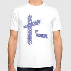 By Design Mens Fitted Tee SMALL White