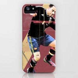 Poster euro football player XAVI iPhone Case