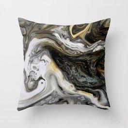 Coulis sur toile Throw Pillow