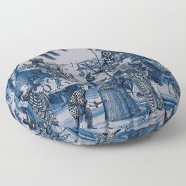 17th Century Delftware Chinoiserie Floor Pillow