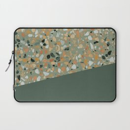 Terrazzo Texture Military Green #4 Laptop Sleeve