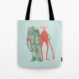 Alien & Astronaut Tote Bag
