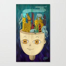 Mundo de cabeza Canvas Print