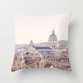 Roman Sunrise - Rome Italy Travel Photography Throw Pillow