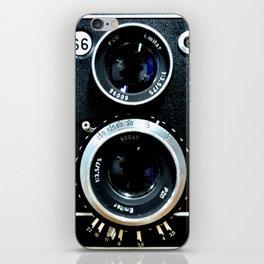 Vintage camera TLR iPhone Skin