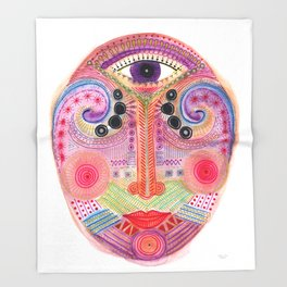 the all seing tranquility mask Throw Blanket