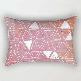 Tribal Watercolours - in Sunset Pink/Orange Rectangular Pillow