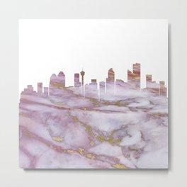 Calgary Skyline Canada Metal Print