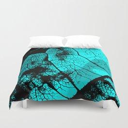 Aqua leaf Duvet Cover
