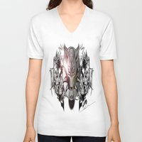 final fantasy V-neck T-shirts featuring Final Fantasy by MatthewTew