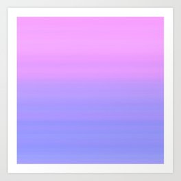 Pastel Pink Blue Stripes | Abstract gradient ombre pattern Art Print