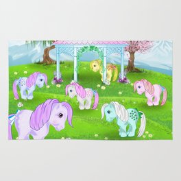 g1 my little pony stylized Collector ponies Rug