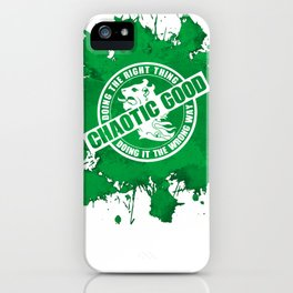 d20 Chaotic Good Alignment iPhone Case
