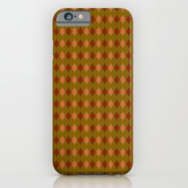 Interlaced circles # 2 in red, ocher and orange iPhone Case