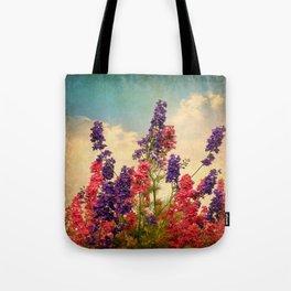 Delphiniums (Textured) Tote Bag