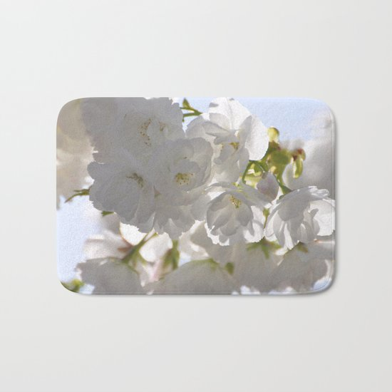 WHITE SPRING :) Bath Mat