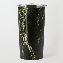 Lichen Geode, Abstrct Macro Photograph Travel Mug