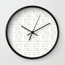 without music life is an error Wall Clock