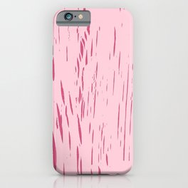 Wax Print Crackles - Rose iPhone Case