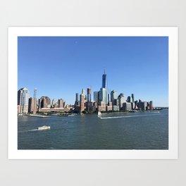 New York By Ship Art Print