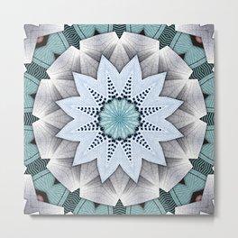Turquoise Layers Mandala Metal Print