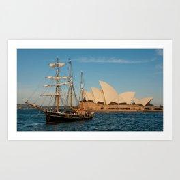 Southern Swan Sailing Ship Art Print
