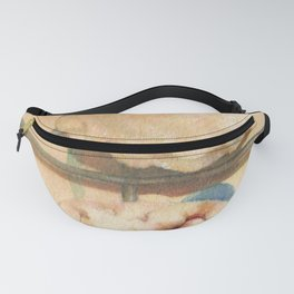 Mince Pies Christmas Sweet Pastries Food Still Life Watercolor Painting Fanny Pack