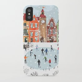 winter town iPhone Case